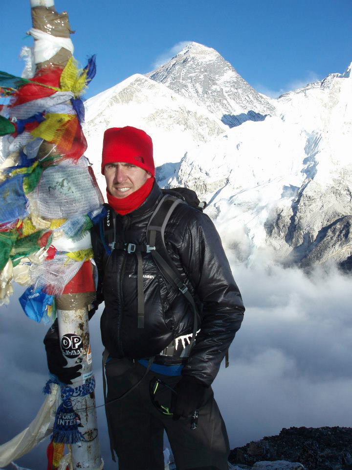 Jason Black on the road to Everest.