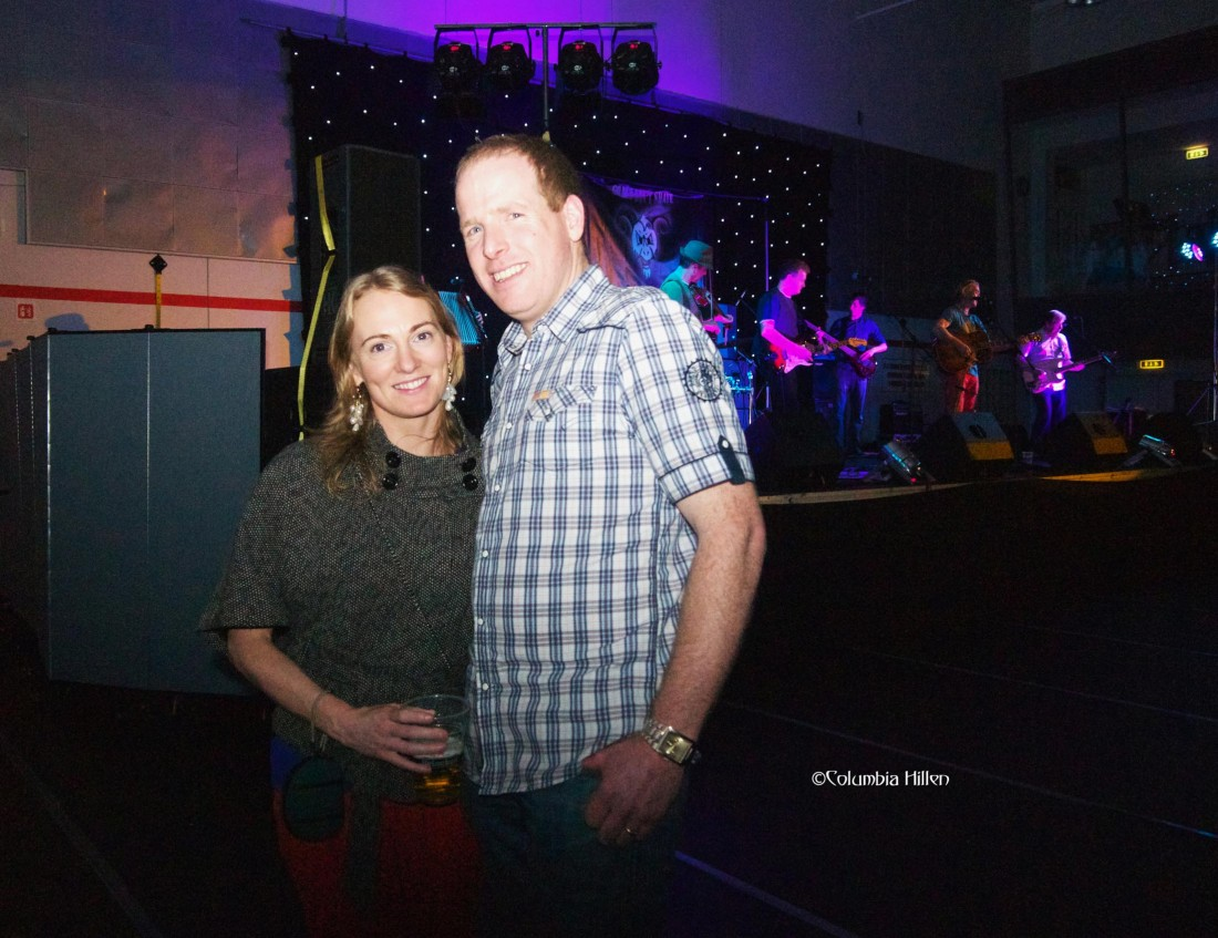 Lucy's parents, Carleen and Gary Gallagher, at the concert event. Photo: Columbia Hillen