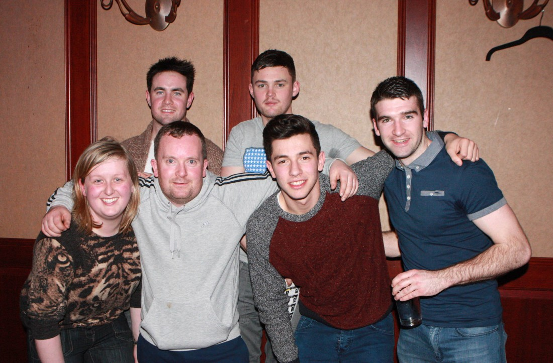 Brendan Logue with his supporters Vicky Lockhart, Ryan McGee, Brendan McCall, Sean Daffan and Jimmy Doherty at the Lord of the Ring 5.