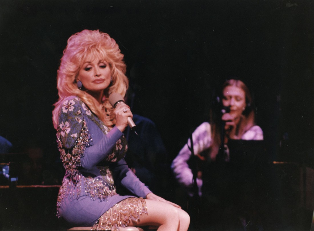 Mairéad and Altan performing with Dolly Parton at Dollywood. Photo: Mark Burgess